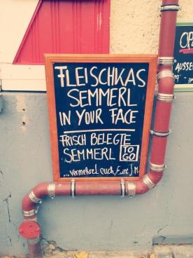 fleischkas semmerl IN YOUR FACE!!