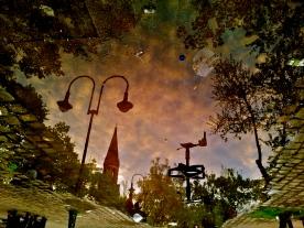 sonnenuntergang, görlitzer park