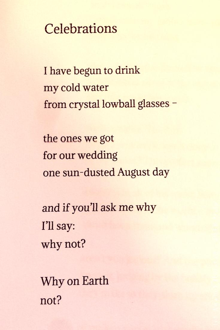 "Poem ""Celebrations"""