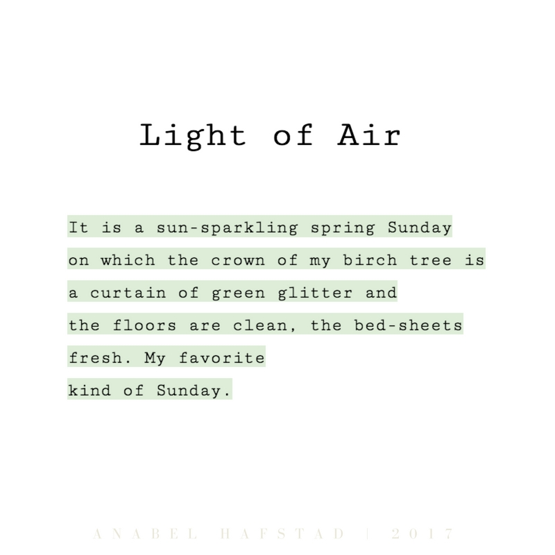 "Poem ""Light of Air"""