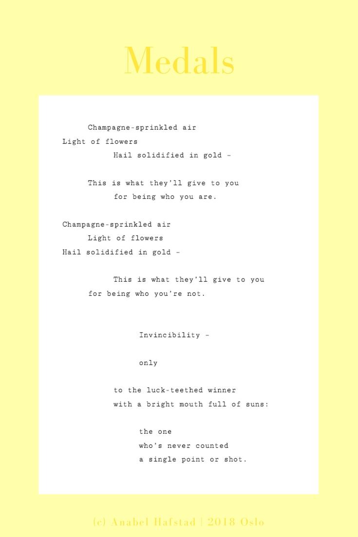 """Poem """"Medals"""""""