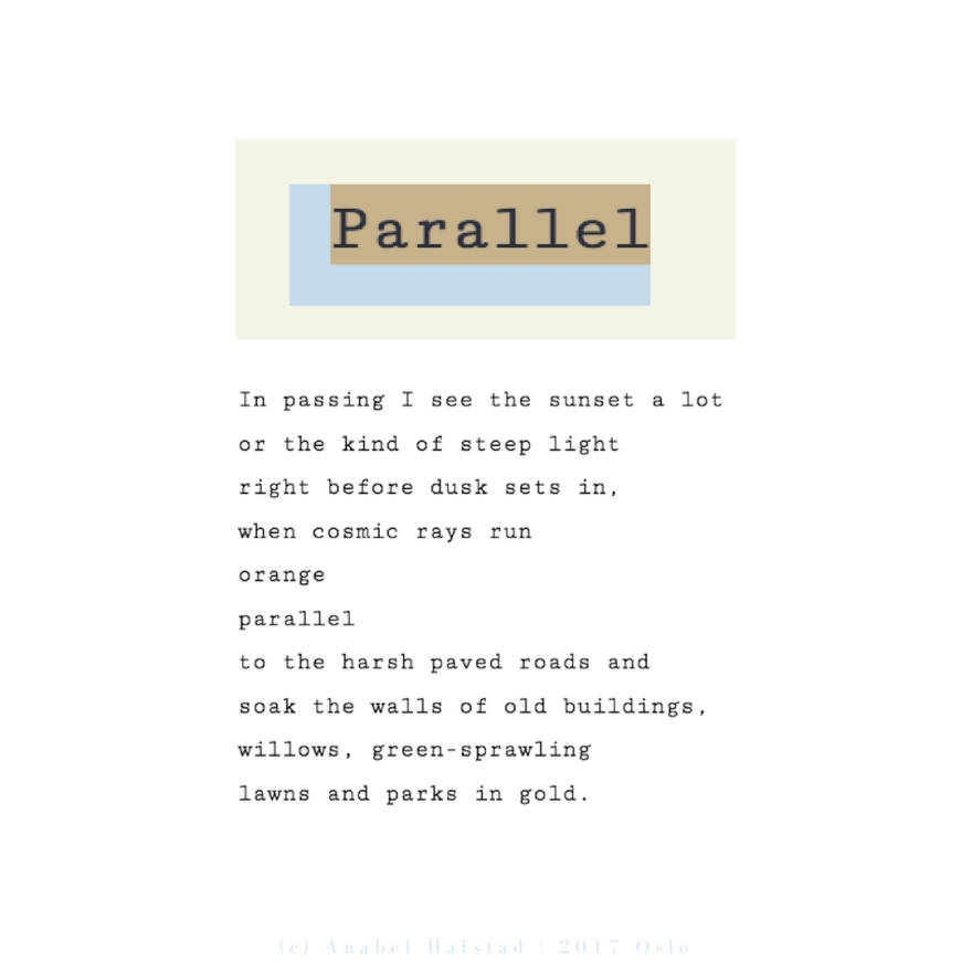 "Poem ""Parallel"""